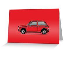Honda N600 Red Kei Car Greeting Card