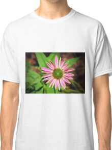 Pink And Green Zinnia Classic T-Shirt