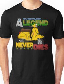 A Legend Never Dies (Vespa Px 125) Unisex T-Shirt