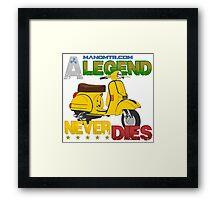 A Legend Never Dies (Vespa Px 125) Framed Print