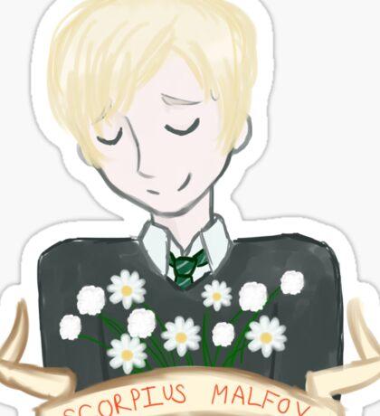 Scorpius Malfoy (flowers) Sticker