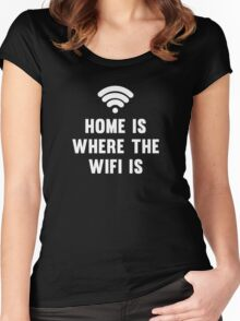 Home Is Where The Wifi Is Women's Fitted Scoop T-Shirt