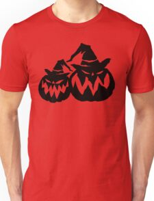 Black Pumpkin - Halloween Vector Unisex T-Shirt
