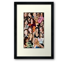 The Women of SNL collage Framed Print