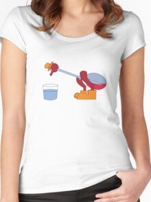 It's drinking the water Women's Fitted Scoop T-Shirt