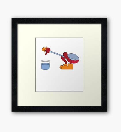It's drinking the water Framed Print