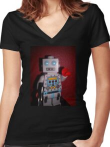 Lego Robot Women's Fitted V-Neck T-Shirt