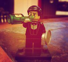Lego Waiter Getting Drunk by MonkeyFondue