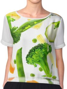 Healthy Vegetables Chiffon Top
