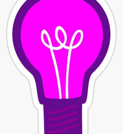 Violet Light Bulb Sticker