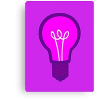 Violet Light Bulb Canvas Print