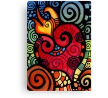 Heart on Fire Canvas Print
