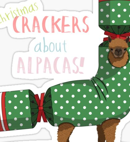 Christmas Crackers About Alpacas! Sticker