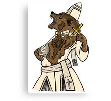 Pope Werewolf IV Canvas Print