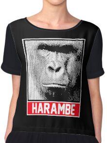Gorilla Harmabe Head Chiffon Top