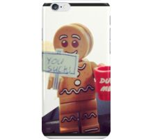 Lego gingerbread man iPhone Case/Skin