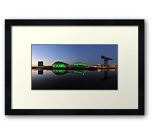 Waterfront Pano in the Twilight Framed Print