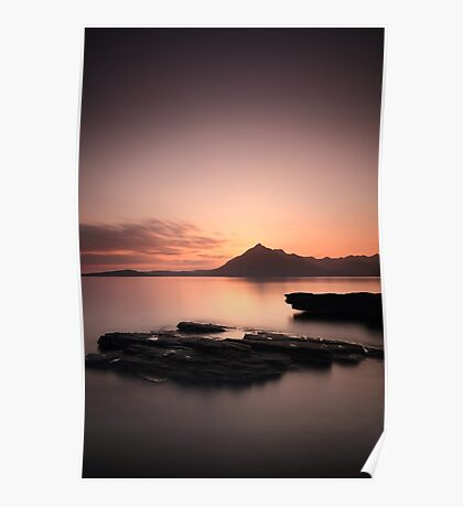 Elgol Sunset Afterglow Poster
