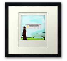 Sherlock polaroid Framed Print