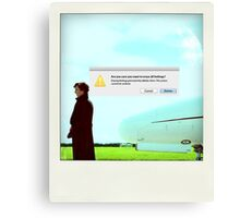 Sherlock polaroid Canvas Print