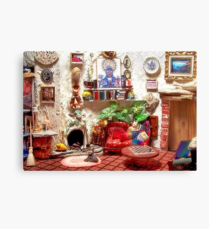 La Casita (Little House) /Scene from a Miniature) Canvas Print