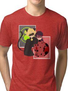 Ladybug and Chat Noir Tri-blend T-Shirt