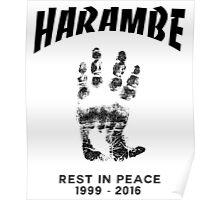 Harambe Handprint Poster