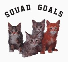 Squad Goals cat  Kids Tee