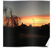 Sunset In Town Poster