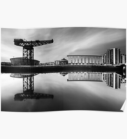 Clyde Waterfront Mono Poster