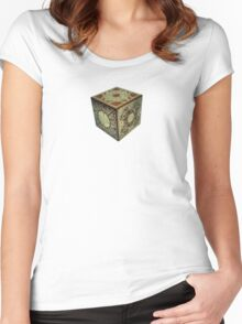 The Lament Configuration (aka Hellraiser Puzzle Box) Women's Fitted Scoop T-Shirt