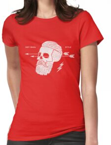 Poster of vintage skull hipster label Womens Fitted T-Shirt