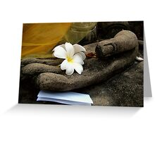 In Buddha's Hand Greeting Card