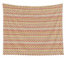 Orange seamless knitting pattern. Autumn background. Wall Tapestry