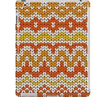 Orange seamless knitting pattern. Autumn background. iPad Case/Skin