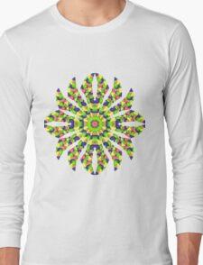Stained Glass Illusion Mandala Long Sleeve T-Shirt