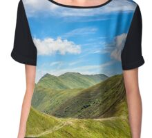 path to the mountain top Chiffon Top