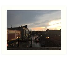 Sunset Dusk Shot From the Bryn Mawr Stop Art Print