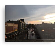 Sunset Dusk Shot From the Bryn Mawr Stop Metal Print