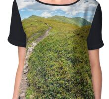 footpath to the mountain top Chiffon Top
