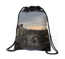Sunset Dusk Shot From the Bryn Mawr Stop Drawstring Bag