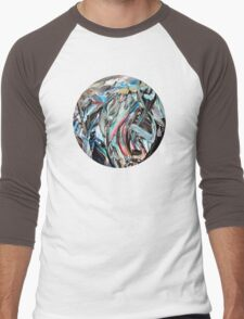 RGB Marble Painting Men's Baseball ¾ T-Shirt