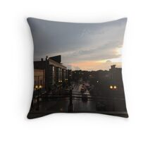 Sunset Dusk Shot From the Bryn Mawr Stop Throw Pillow