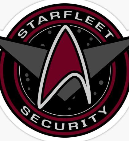 Star Trek - Starfleet Security Logo (Red Variation) Sticker