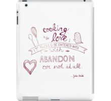 cooking iPad Case/Skin