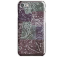 0343 Railroad Maps New trans-continental map of the Pacific R R and routes of overland travel to Colorado Nebraska the Black Hills Utah Idaho Nevada Montana California and Inverted iPhone Case/Skin
