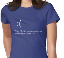 BLUE SCREEN OF DEATH - Windows 8/10 Blue Screen Graphics Womens Fitted T-Shirt
