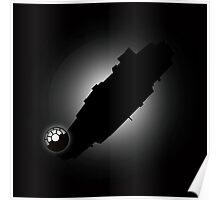 Millennium Falcon Silhouette Poster