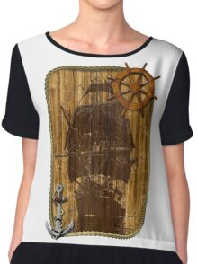 Old World Sailing Chiffon Top