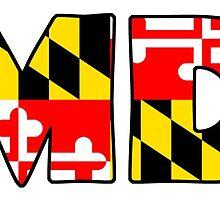 Maryland Flag Abbreviation by vgiuliana1